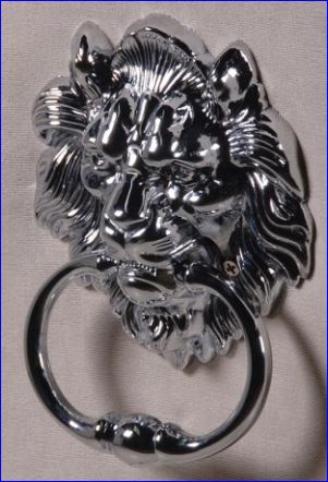 Lion Knocker detail on back